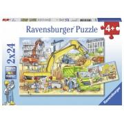 PUZZLE MUNCIND DIN GREU, 2X24 PIESE - RAVENSBURGER (RVSPC07800)