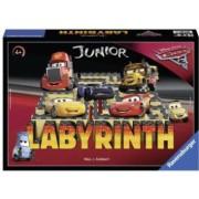 Joc Labirint Junior - Cars Ro .Contine 1 tabla 17 cartonase cu labirint 12 jetoane rotunde Cars si 4 piese de joc.