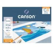 > Album pochette C4 carta da disegno 24x33cm 224gr 20fg ruvido Canson (unit