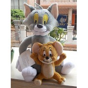 "Tom and Jerry Plush Tom 11"" & Jerry 5.5"" Doll Stuffed Animals Figure Soft Anime Collection Toy"