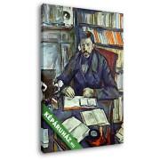 Paul Cézanne: Gustave Geffroy portréja (20x25 cm, Vászonkép )