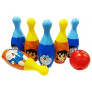 Doraemon Bowling Set Packed in Box for Easy Storage for Kids/Outdoor Toys for Kids/Multi-Color Toys(Colors May Vary According to Availability)