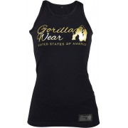Gorilla Wear Florence Tank Top - Black/Gold - M