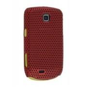 Samsung S5570 Galaxy Mini Slim Mesh Case - Samsung Hard Case (Burgundy Red)