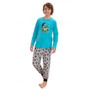 Pijama pentru băieți Miloș turcoaz 158