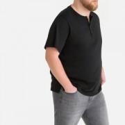 Effen T-shirt met tuniekhals en korte mouwen