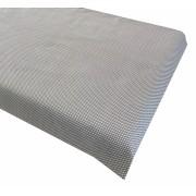 Cearsaf cu elastic roata 140x70 cm Buline albe pe gri