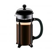 Bodum CHAMBORD® Cafetière à piston, 8 tasses, 1.0 l, acier laqué Noir