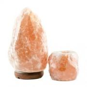 Lampa de sare Himalaya 4-6 kg & candelă de sare Mare - Transport Gratuit