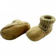 Botosei din piele si blanita de miel cu mansete tricotate - Marime 18 Altabebe MT4032L-01 B360631 - Galben