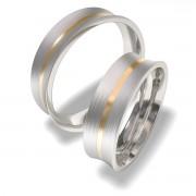 Luxusní Ocelové snubní prsteny 7087-2