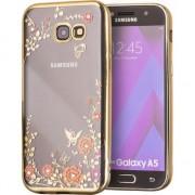 Husa telefon hurtel Bloomy Case designerskie etui żelowy pokrowiec Samsung Galaxy A5 2017 A520 złoty