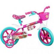 Caloi Bicicleta Caloi Barbie - Aro 12 - Freio a Tambor - Feminina - Infantil - ROSA/BRANCO