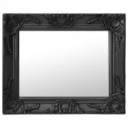 vidaXL Стенно огледало, бароков стил, 50x40 см, черно