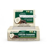 Dr. Mercola Organic Cocoa Cassava with Coconut & Chia Seeds (12 Bars 44 g Each ) - Dr. Mercola