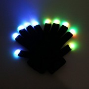 RexRod High Quality 7 colors light show LED Gloves Rave Light Finger Lighting Flashing Glow Mittens