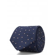 Tommy Hilfiger Tailored Dot Silk Blend 7cm Tie Slips Blå Tommy Hilfiger Tailored