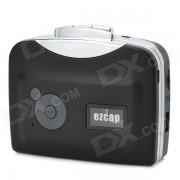 Ezcap230 Conveniente cinta de cassette a MP3 USB Flash-drive Hot Swapping Converter - Negro
