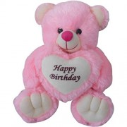 ButterCup Sweet Pink 60 cm 2 Feet Happy Birthday with Heart Teddy Bear Pink Teddy Bears Huggable and ButterCup Loveable for Someone Special ( Free Gift A girls Ring )