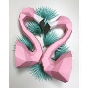 Assembli flamingo paper kit DIY-roze
