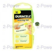 Duracell 1.4v Hörapparats Batteri 8 x 6 st (48 st) (Nr 10)