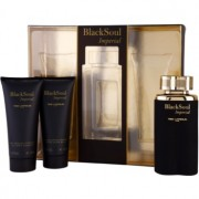 Ted Lapidus Black Soul Imperial lote de regalo I. eau de toilette 100 ml + bálsamo after shave 100 ml + gel de ducha 100 ml