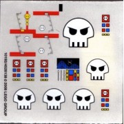 Stickers - Space Lego Original Sticker Sheet for Set #10192 Space Skulls