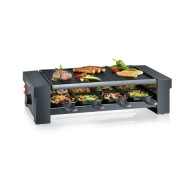 Severin Raclettegrill med Pizza-funktion, 8 pannor