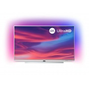 Televizor LED Philips 65PUS7304/12, 164 cm, 4K UHD, Smart TV, Dolby Atmos, Procesor Quad Core, Wi-Fi, Bluetooth, CI+, Ambilight, Clasa energetica A+, Argintiu deschis