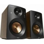 Boxe 2.0 Horizon HAV-M1100N Hi-Fi Monitor Active 60W AUX USB Bass Treble Knobs Castaniu