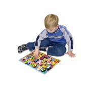 Puzzle lemn in relief Litere Melissa and Doug