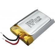 Acumulator Li-Po (litiu-polimer) prismatic 3,7 V, 120 mAh, Renata ICP651321PA
