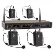 Malone Duett Quartett Fix V3 micrófonos inalámbricos UHF 4 canales alcance 50 m (BR4-Quartett-Fix-V3)
