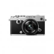 Aparat foto Mirrorless Olympus PEN-F 20.3 Mpx Silver Kit 17mm f/1.8