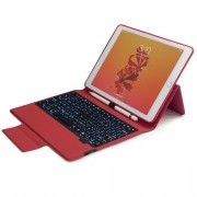 F13 Flip Bluetooth Backlight Keyboard Stand Case for iPad 9.7-inch (2018) / 9.7-inch (2017) / Air 2 / Air / Pro 9.7 inch (2016) - Red