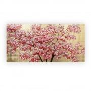 Tablou CHERRY TREE, panza, 140x70x3.5 cm