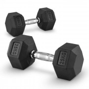 Capital Sports Hexbell 25 Dumbbell, чифт гири за една ръка, 25 кг (PL-8384-8384)