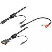 Goobay Cavo da HDMI a DVI con Audio 3m + Adattatore jack/RCA
