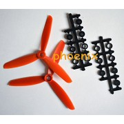 Generic Red : 6045 3-Leaf Propeller ABS CW/CCW For Mini Quadcopter 250 Frame Kit