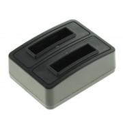 Carregador Dual de Bateria para Sony NP-BX1 - Preto