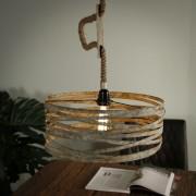 Zaloni Hanglamp Martin Ø40 van 150 cm hoog in verweerd zink