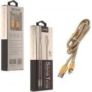 LDNIO LC-86 Goud Lightning kabel en Micro Usb oplaadkabel 2 in 1 geschikt voor o.a CAT S31 S41