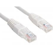 Patch Cord UTP Cat5e, 1m, alb