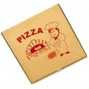 Cutie Pizza Natur Model Bucatarul, 32x3.5x32 cm, 100 Buc/Bax - Ambalaj din Carton Maro