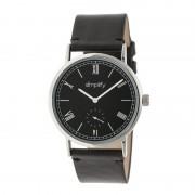 Simplify The 5100 Leather-Band Watch - Silver/Black/Black SIM5102