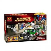 Super Hero Avengers League Spiderman And Large Truck Building Blocks Toy Compatible With Lego