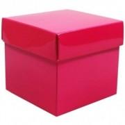 Geen Roze cadeaudoosje 10 cm vierkant