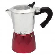 РАЗОПАКОВАН - Кубинска кафеварка за 6 чаши ZEPHYR ZP 1173 J6, 300 ml, Червен/сребрист