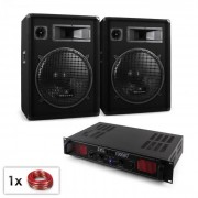 "Electronic-Star ""Malone Bluetooth SPL"" DJ PA szett, 2x hangfal 15"" (38cm), erősítő 1000W (Pl-10867-212)"