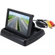Opvouwbare 4,3 inch digitale TFT LCD-monitor met hoge resolutie van de auto, ondersteuning voor omgekeerde automatische schermfunctie